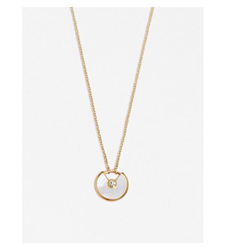 CARTIER Amulette 德 Cartier 18ct 黄金钻石项链