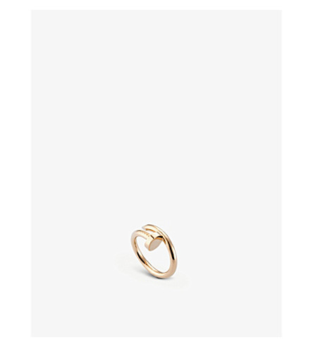 CARTIER Juste un Clou 18ct pink-gold ring