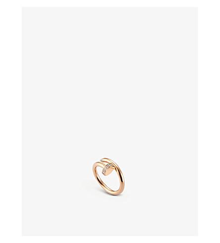 CARTIER JUSTE UN CLOU 18ct 粉红色金和钻石戒指