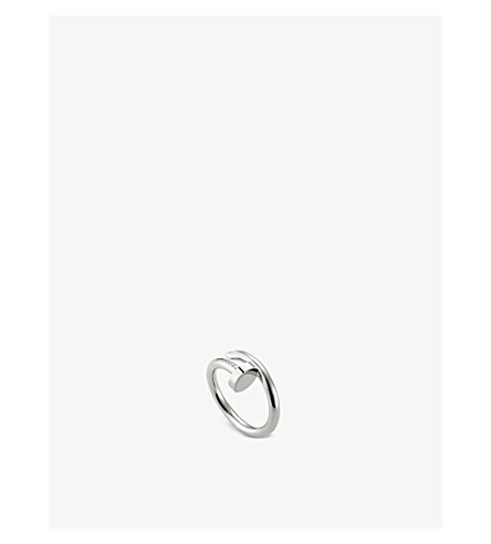 CARTIER Juste un Clou rhodium-plated white-gold ring