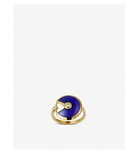 CARTIER Amulette de Cartier 18ct yellow gold, lapis lazuli and diamond ring