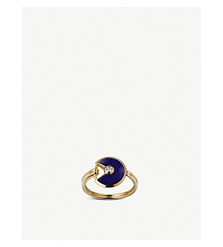 CARTIER Amulette de Cartier 18ct yellow-gold, lapis lazuli and diamond ring