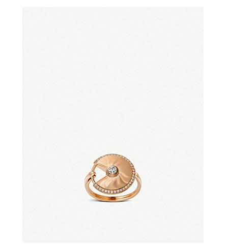 CARTIER Amulette de Cartier 18ct 粉红色-金和钻石戒指