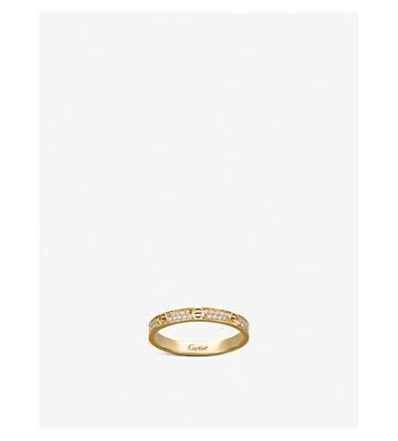 CARTIER LOVE 18ct yellow-gold and diamond ring (Yellow+gold+diamond