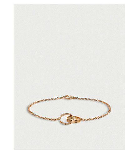 CARTIER Love 18ct pink-gold bracelet