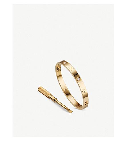 CARTIER 爱18ct 黄金和钻石手镯