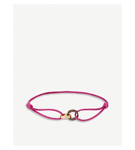 CARTIER 爱18ct 粉红色金色, 钻石和陶瓷手镯