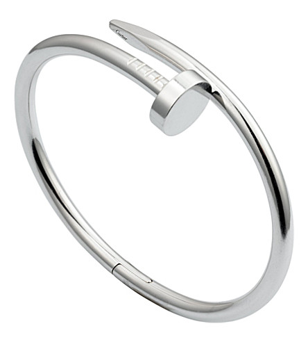 CARTIER Juste un Clou 18ct rhodium plated white-gold bracelet