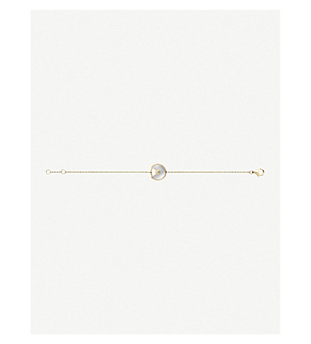 CARTIER Amulette de Cartier 18ct yellow-gold and white mother-of-pearl bracelet