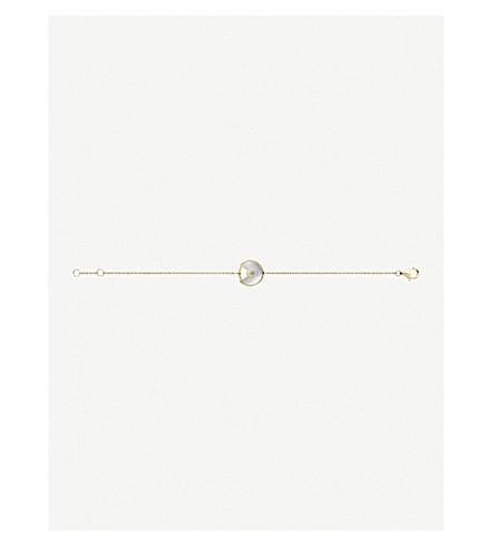 CARTIER Amulette 德 Cartier 18ct 黄色金色和白色珍珠母手镯