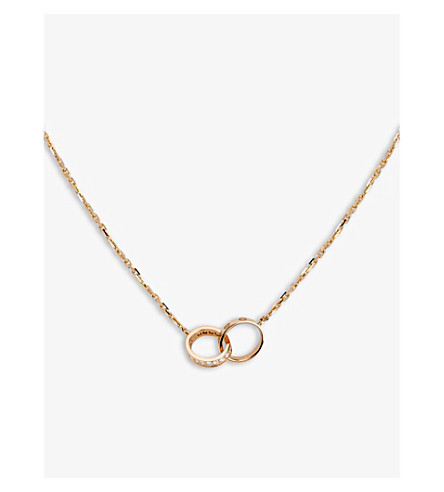 Cartier love 18ct rose gold and diamond necklace selfridges previousnext aloadofball