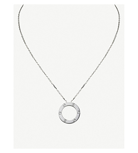 CARTIER Love 18ct white-gold necklace