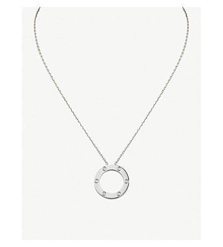 CARTIER 爱 18k 白色黄金和钻石项链