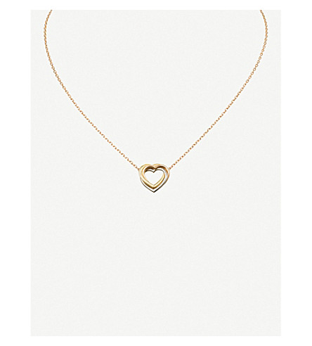 CARTIER Trinity Heart 18ct three-gold necklace