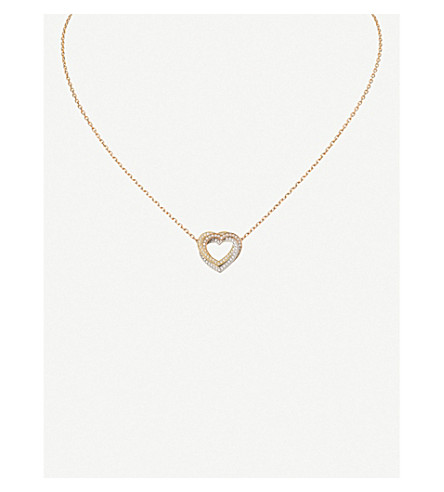 CARTIER Trinity Heart 18ct three-gold diamond necklace