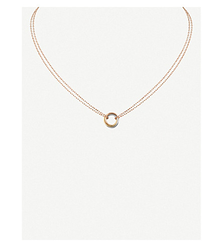CARTIER Sweet Trinity 18ct gold necklace