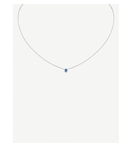 CARTIER Saphirs Légers 德 Cartier 18ct 白金和蓝宝石项链