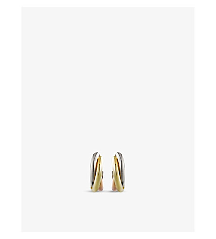 CARTIER Trinity 18ct gold small mini earrings