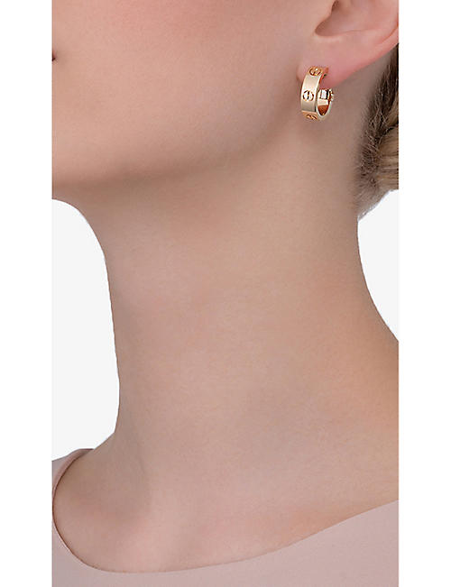 CARTIER Love 18ct yellow-gold hoop earrings