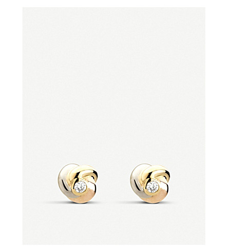 CARTIER Baby Trinity 18ct gold and diamond earrings