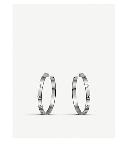CARTIER 爱情18ct 白金耳环