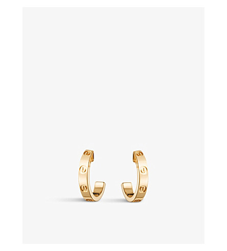 CARTIER Love 18ct yellow-gold earrings