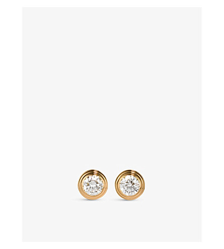 CARTIER Diamants Légers de Cartier 18ct pink-gold and diamond earrings