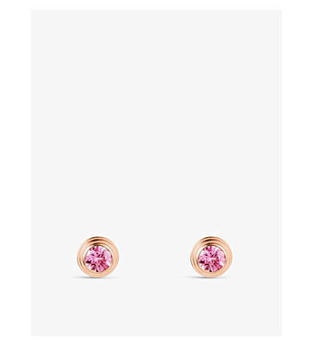 CARTIER Saphirs Légers de Cartier 18ct pink-gold and sapphire earrings