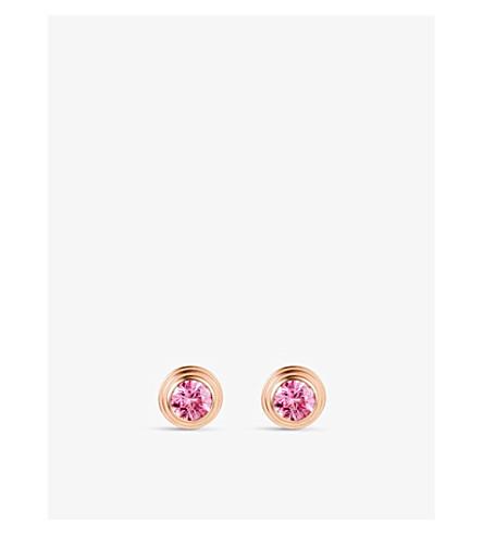 CARTIER Saphirs Légers de Cartier 18ct 粉红色-金色和蓝宝石耳环