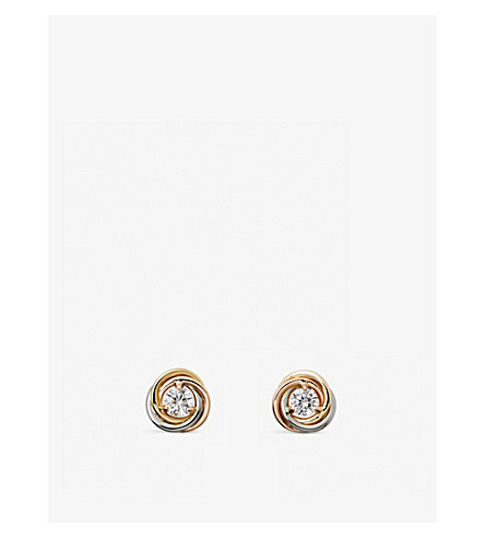 CARTIER Trinity 18ct gold and diamond earrings