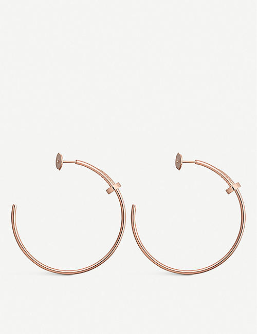 CARTIER Juste Un Clou 18ct rose-gold hoop earrings