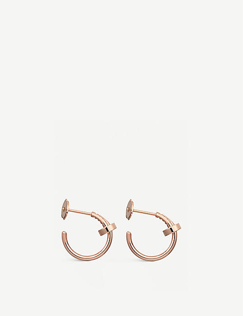 CARTIER Juste Un Clou 18ct rose-gold small hoop earrings