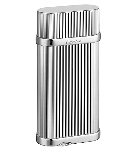 CARTIER Godrons decor palladium-finish lighter