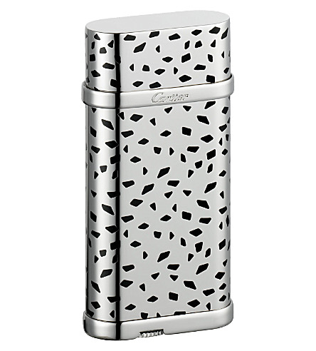 CARTIER Lighter with panther-spots decor