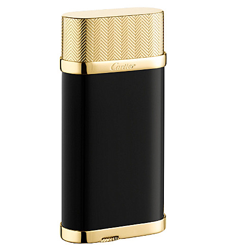 CARTIER Golden Chevrons Lines decor lighter