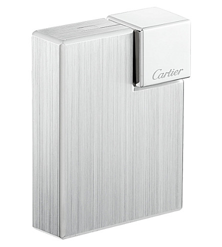CARTIER Brushed decor square lighter