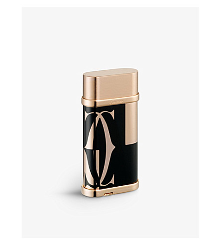 CARTIER Logotype rose-gold lighter