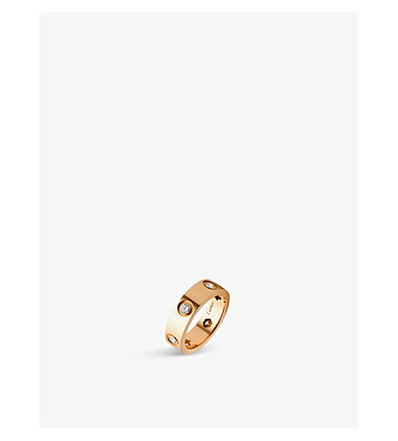 CARTIER Love 18ct pink-gold and diamond ring