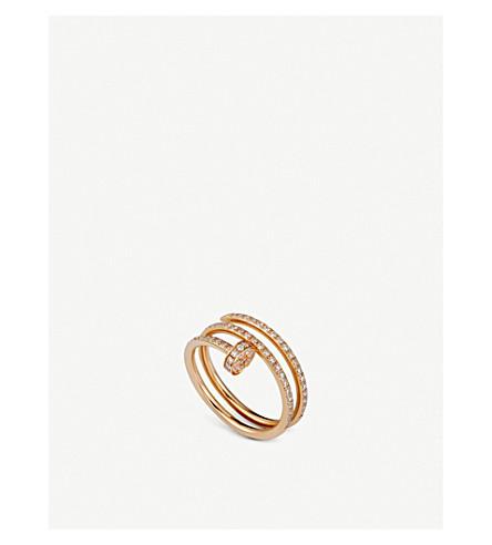 CARTIER JUSTE UN CLOU 18 ct 粉色黄金和钻石双圆环