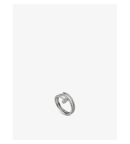 CARTIER Juste un Clou 18ct white-gold and diamond double ring