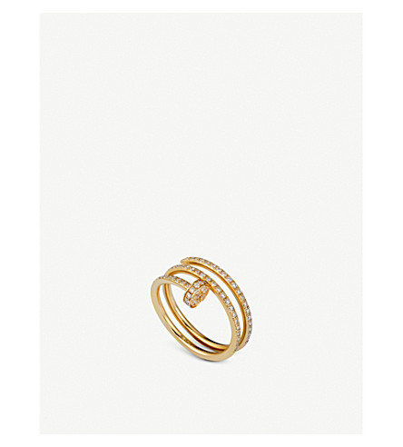 CARTIER Juste un Clou 18ct yellow-gold and diamond ring