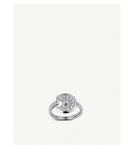 CARTIER Amulette de Cartier 18ct white gold and diamond ring
