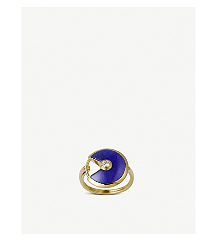 CARTIER Amulette de Cartier 18ct yellow gold, lapis lazuli and diamond ring