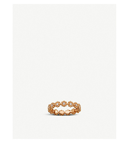 CARTIER Cactus de Cartier 18ct pink-gold and diamond wedding ring