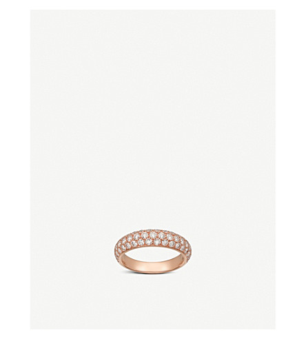 CARTIER Étincelle de Cartier 18ct pink-gold and diamond ring