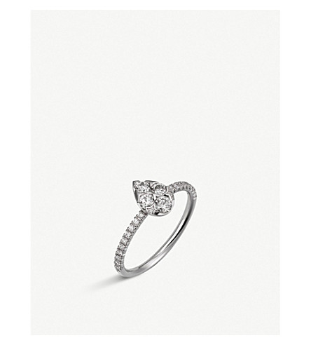CARTIER Étincelle de Cartier 18ct white-gold and diamond ring