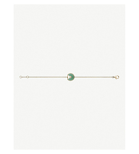 CARTIER Amulette de Cartier 18ct yellow-gold, chrysoprase and diamond bracelet