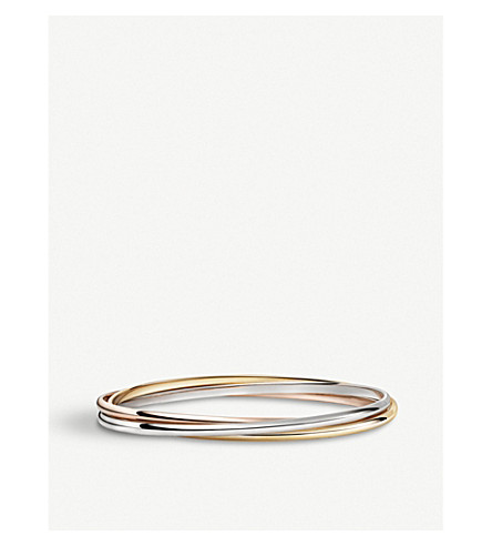 CARTIER Trinity de Cartier 18ct white, pink and yellow-gold bracelet