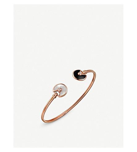 CARTIER Amulette de Cartier 18ct pink-gold, onyx, mother-of-pearl and diamond bracelet