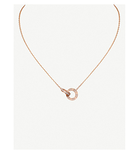 CARTIER Love 18ct pink-gold and diamond necklace